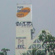 Ampang City Plaza:identity sign on top of building